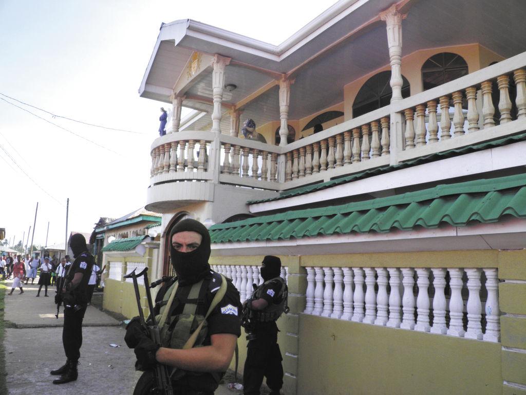 Esta es otra de las casas  ocupadas en Bluefields por la Policía durante un operativo antidrogas. LA PRENSA/CORTESÍA POLICÍA