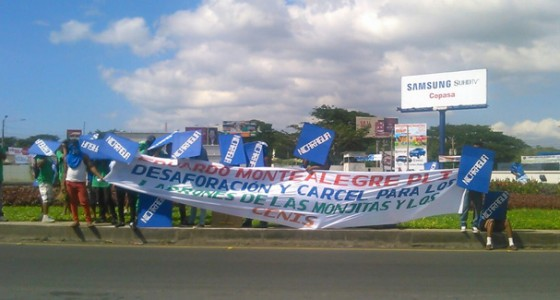 Miembros de Rejudin y Forfunic exigen la liberación de dos de sus integrantes. LA PRENSA/Lucía Navas